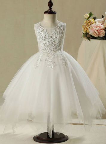 2017 Flower Girl Dresses Beautiful Church Wedding Party Dresses