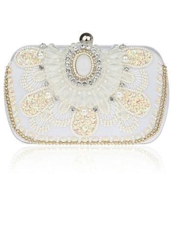Beautiful Vintage Beads Embroidered Design Evening Clutch