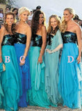 Delicate 2017 Turquoise Blue Long Bridesmaid Dresses