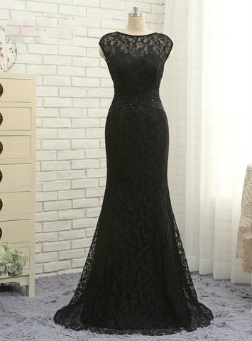 Latest Cap Sleeves Lace Black 2017 Mother Of The Bride Dresses Mermaid