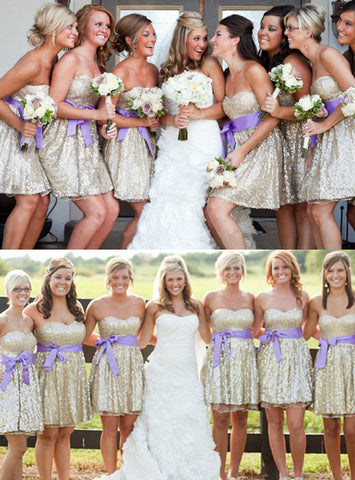 Impressive Beading Bridesmaid Dresses Sweetheart Short Bridesmaid Dresses