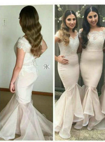 Gorgeous 2017 Mermaid Bridesmaid Dresses Lace Appliques Bead
