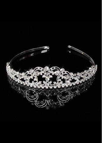 Cheap Chic Alloy Wedding Tiara With Rhinestones
