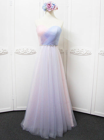 A-line Sweetheart Pink Bridesmaid Dress