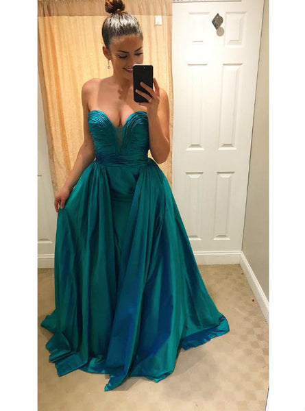 Queenly Sweetheart Backless Prom Evening Gowns Floor Length 2017