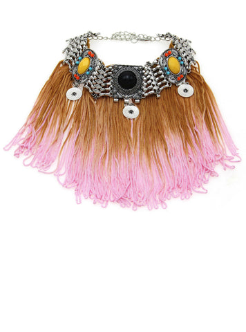 Long Tassel Necklaces & Pendants Bohemia Choker Statement