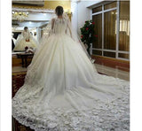 Wedding Dresses 2017 with 1/2 Sleeves Ivory Vintage Lace Applique Tea Length Country Style