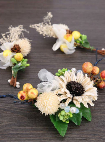 Bohemia Lovely Dried Flower Hairpins Hair Clips Hairpins Headwear Clips for Girl
