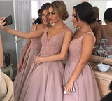 A-line bridesmaid dress dusty rose bridesmaid dress