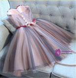 Short homecoming dresses Classic A-line Sweetheart Short Mini Tulle Short Prom Dress