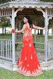 Red Prom Dresses 2017 Prom Gowns Long Mermaid Evening Dress Formal Dresses