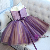 Advanced A-line Sweetheart Short Mini Tulle Short Prom Dress short homecoming dresses