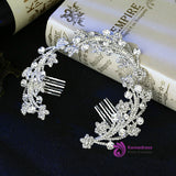 Cheap Pearl bride jewelry Rhinestone Tiara Comb