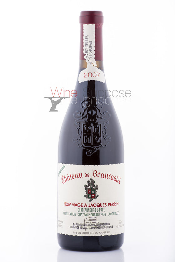 Chateau Beaucastel Chateauneuf du Pape Hommage A Jacques Perrin 2007