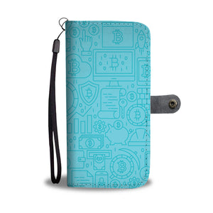 Baby Blue Hodler Of Last Resort Wallet Phone Case