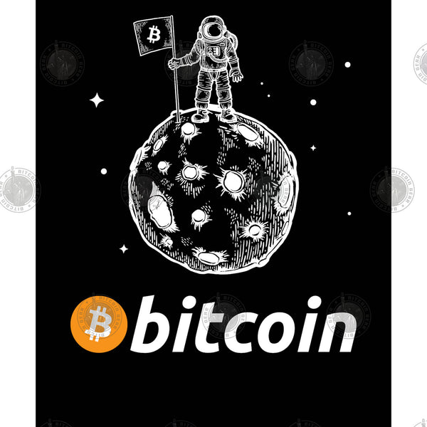 Bitcoin To The Moon Unisex T-Shirt