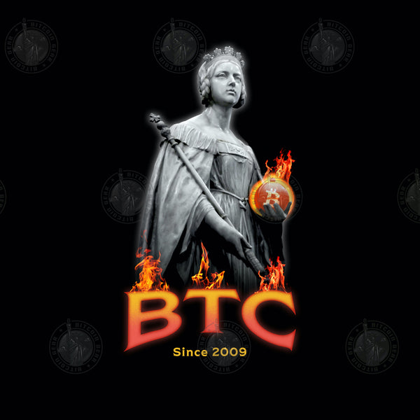BTC Glowing Hot Black Unisex Bitcoin T-Shirt