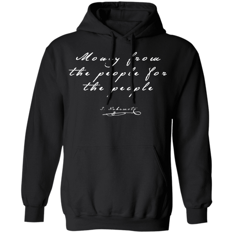 Bitcoin Hoodie Black / S Money From The People For The People Hoodie