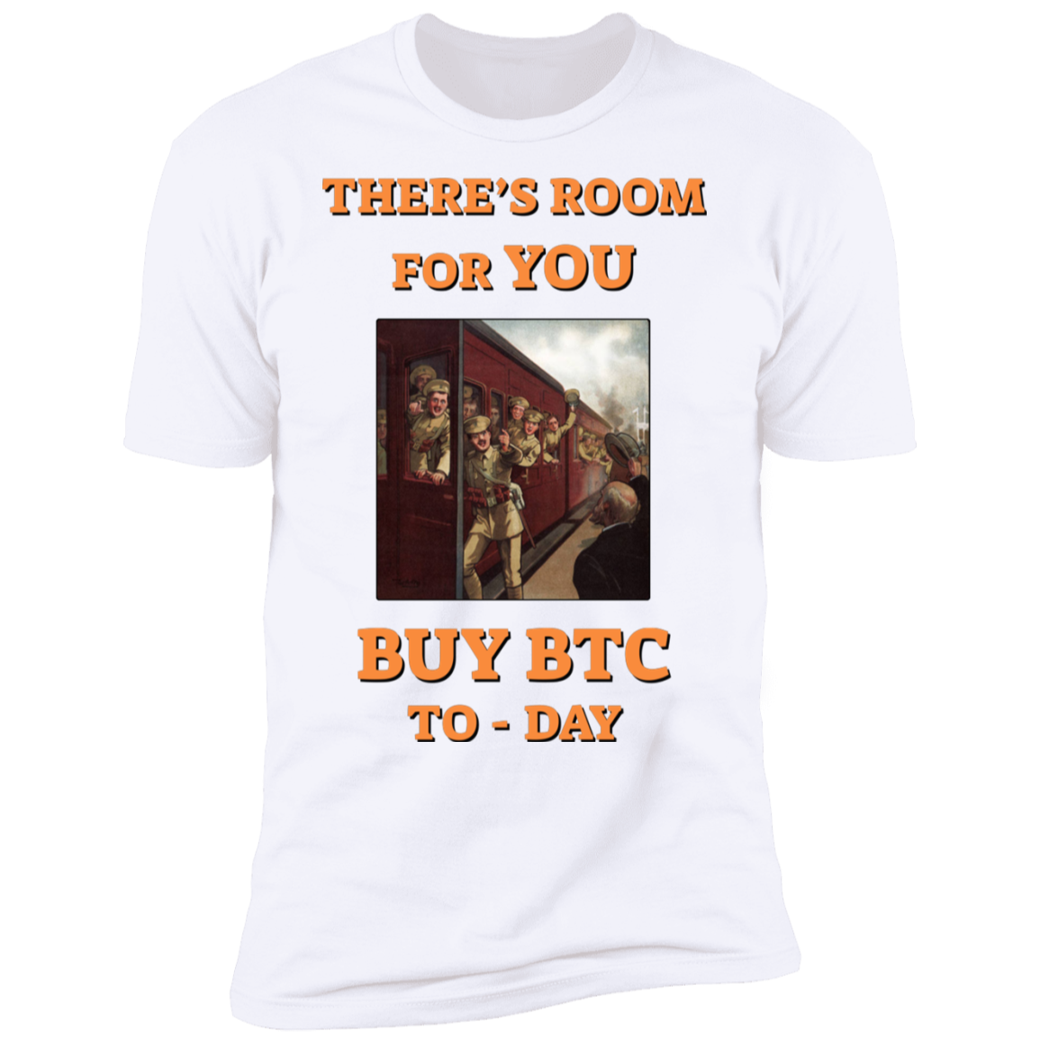 Bitcoin T shirt White / S There's Room For You T-Shirt