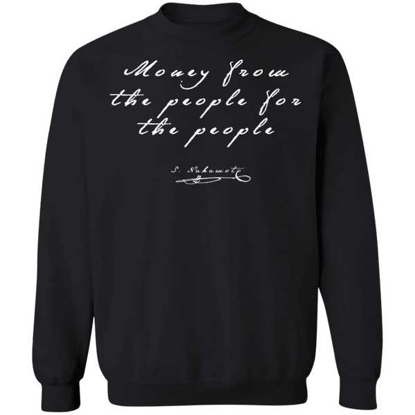 Bitcoin Sweatshirt Black / S Money From The People For The People Sweatshirt