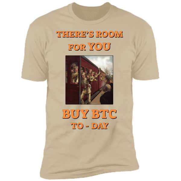 Bitcoin T shirt Sand / X-Small There's Room For You T-Shirt