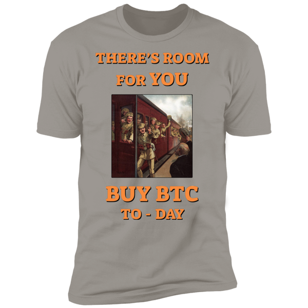 Bitcoin T shirt Light Grey / X-Small There's Room For You T-Shirt