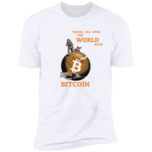 Bitcoin T shirt S Travel All Over The World With BTC T-Shirt