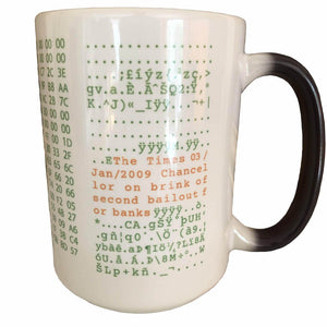 Bitcoin Mug One Size Genesis Block Color Changing Mug