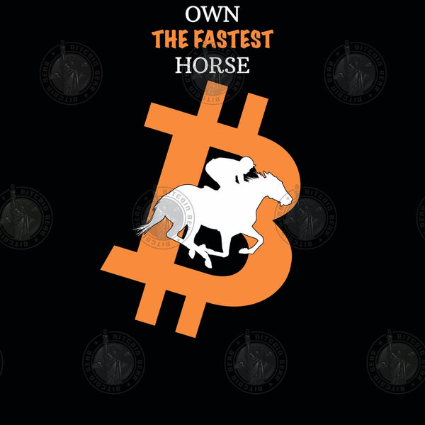 Bitcoin Hoodie Own The Fastest Horse Hoodie