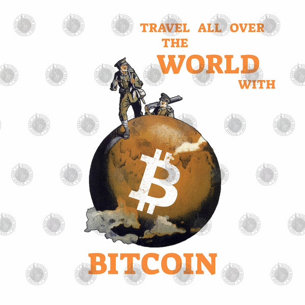 Bitcoin T shirt Travel All Over The World With BTC T-Shirt