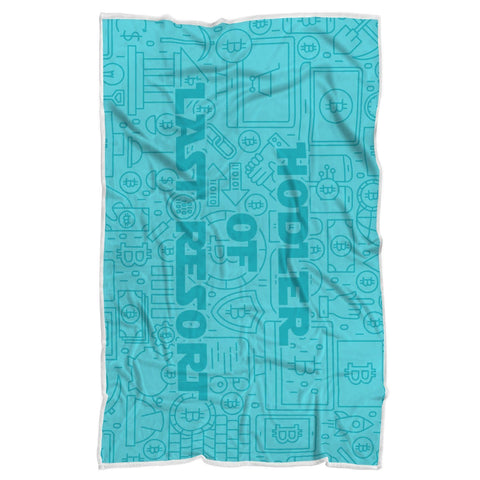 "Bitcoin Blanket Adult 70""x44"" Hodler Of Last Resort Blanket"