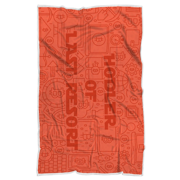 "Bitcoin Blanket Adult 70""x44"" Imperial Red Hodler Of Last Resort Blanket"