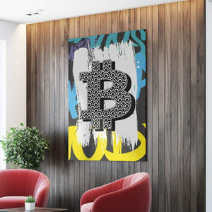 "Bitcoin Canvas 8"" x 12"" Bitcoin Sign Canvas"