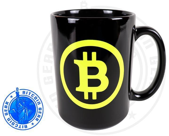 Bitcoin Coffee Mug One Size Premium Ceramic Mug Bitcoin B - Fluorescent Yellow