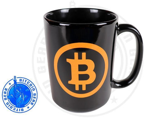 Bitcoin Coffee Mug One Size Premium Ceramic Mug Bitcoin B - Orange