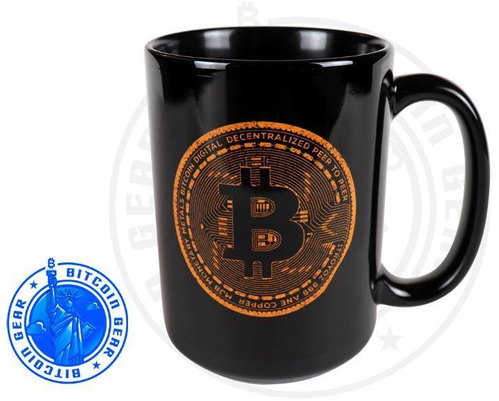Bitcoin Coffee Mug One Size Premium Ceramic Mug Bitcoin Orange