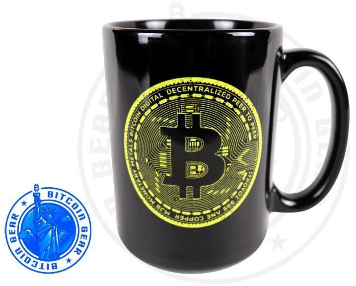 Bitcoin Coffee Mug One Size Premium Ceramic Mug Bitcoin Yellow