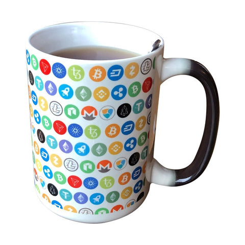Bitcoin Coffee Mug One Size The Cryptoworld 15 oz. Color Changing Mug