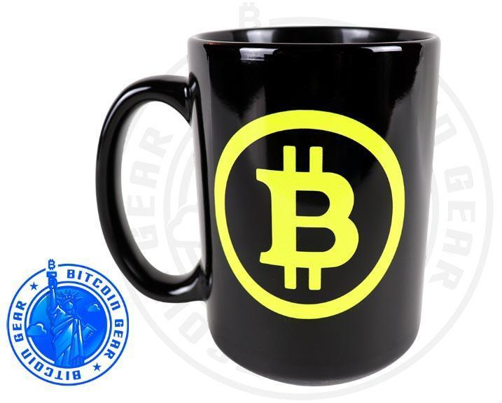 Bitcoin Coffee Mug Premium Ceramic Mug Bitcoin B - Fluorescent Yellow