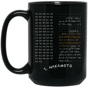Bitcoin Mug One Size Genesis Block Black Mug