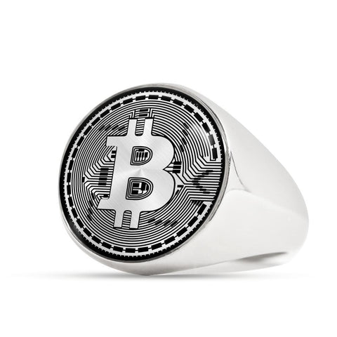 Bitcoin Ring Stainless Steel Signet Ring BTC Ring