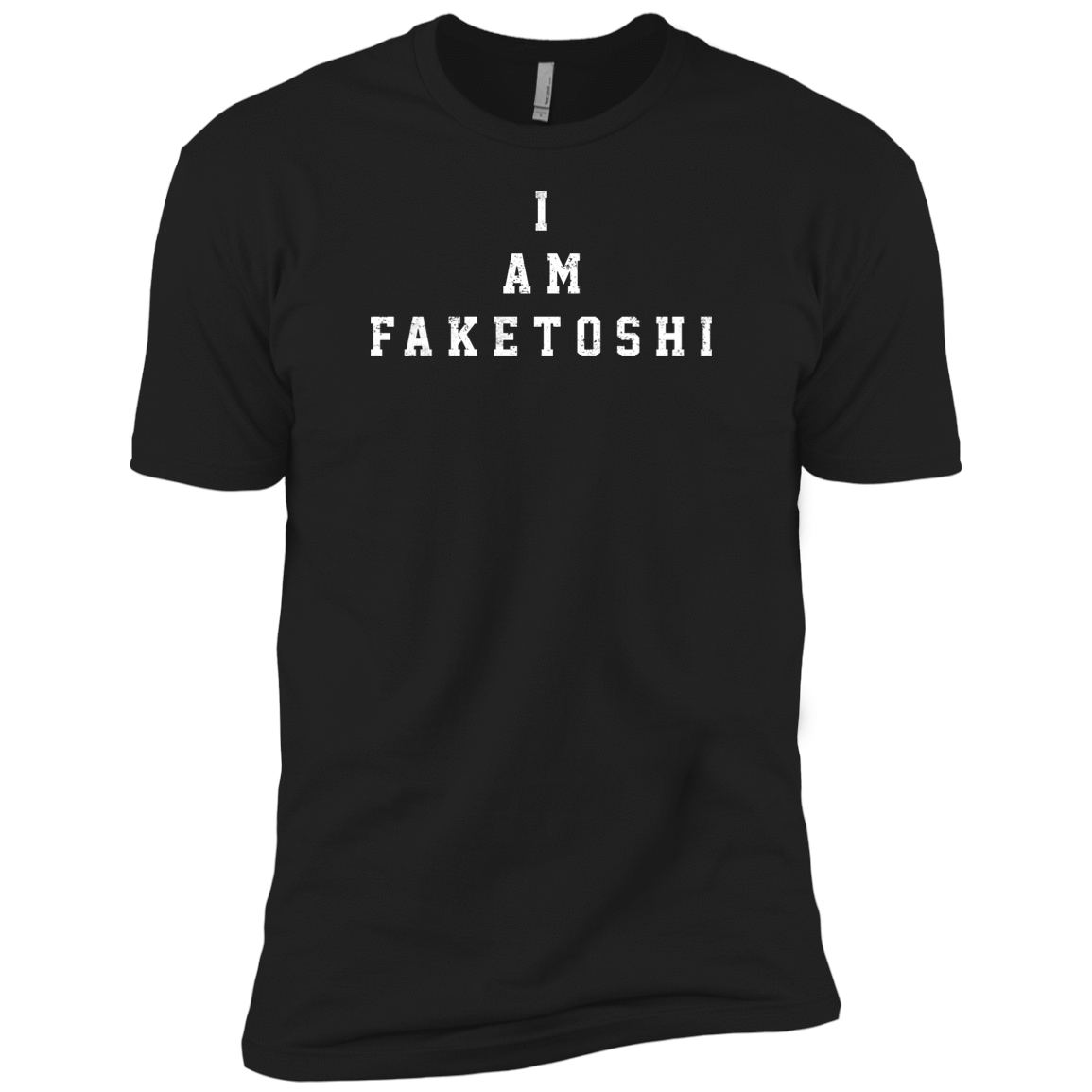 Bitcoin T shirt Black / X-Small I Am Faketoshi T-Shirt