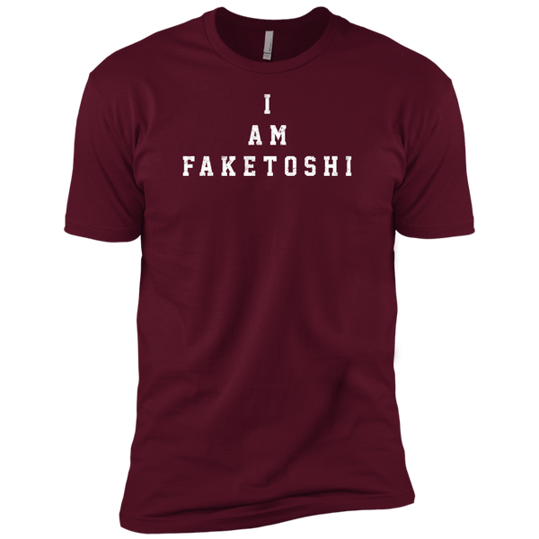 Bitcoin T shirt Maroon / X-Small I Am Faketoshi T-Shirt