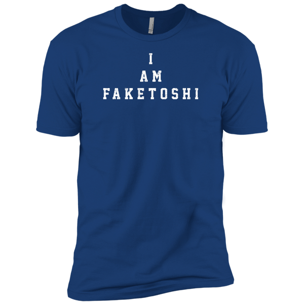 Bitcoin T shirt Royal / X-Small I Am Faketoshi T-Shirt