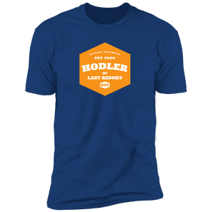 Bitcoin T shirt Royal / X-Small T-Shirt HODLER of last resort