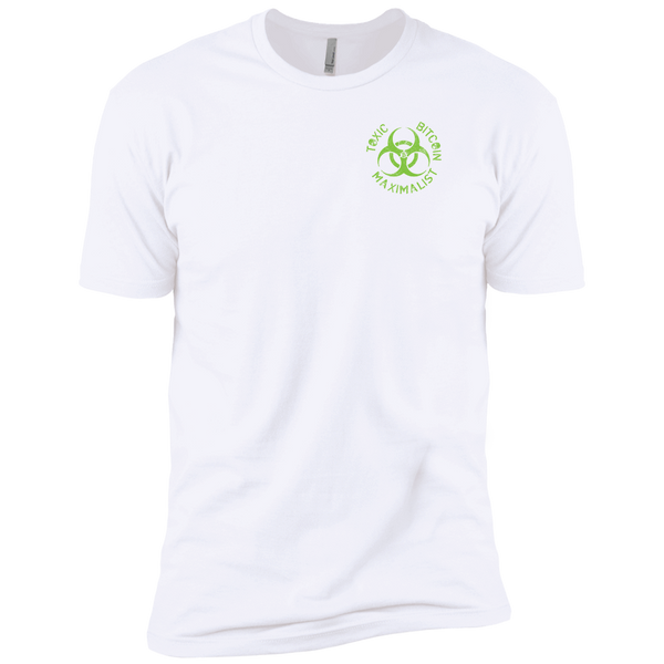 Bitcoin T shirt White / X-Small Toxic Bitcoin Maximalist Left Chest Badge T-Shirt