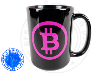 Drinkware Black / One Size Premium Ceramic Mug Bitcoin B - Purple