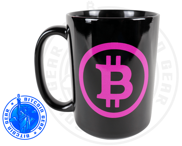Drinkware Premium Ceramic Mug Bitcoin B - Purple