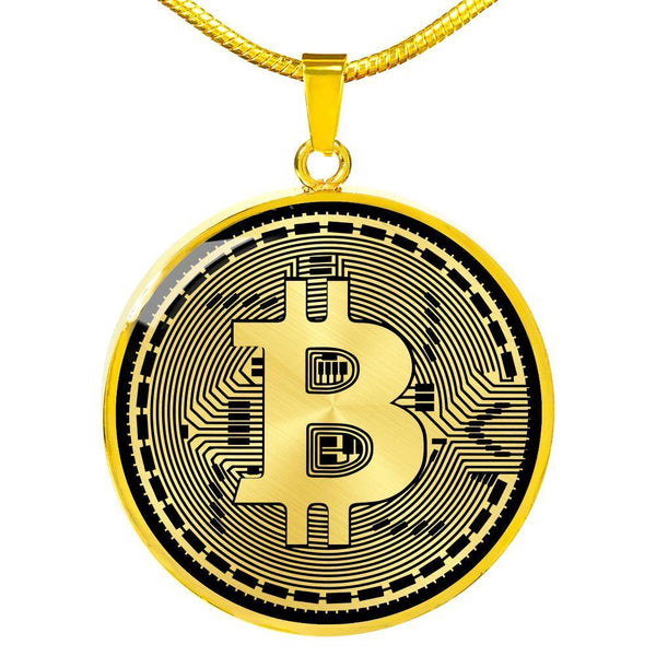 Jewelry Luxury Necklace (Gold) BTC Coin Necklace