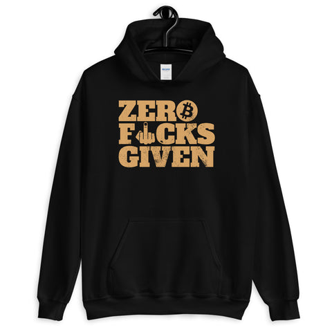 Vintage Zero Fucks Given Bitcoin Hoodie - Zero F**ks Given Hoodie - Bitcoin Apparel - Bitcoin Clothing - Bitcoin Merchandise